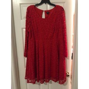 Torrid formal long sleeve lace dress